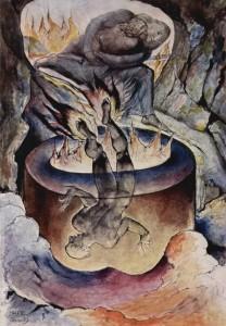 a scene from Blake's series on Dante's Divine Comedy